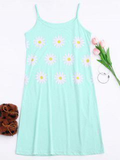 Cami Sun Flower Sleep Dress - Light Green M