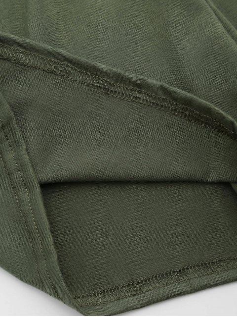 Belted Half Zip Romper - Vert Armée XL Mobile