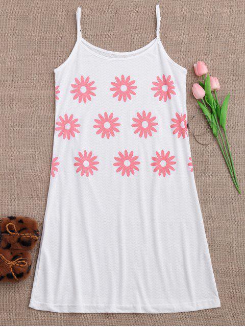Cami Sun Flower Schlafkleid - Weiß M Mobile