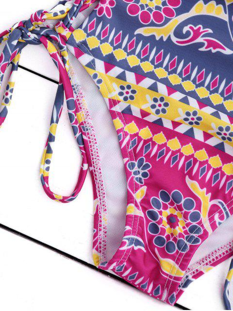 fashion Off The Shoulder Lace Up Bikini Set - ROSE S Mobile