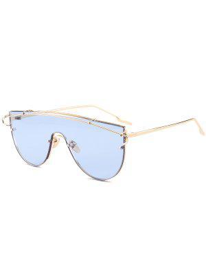 Schildform Sonnenbrille aus Metall mit langer Querlatte