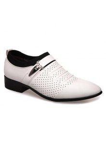 فو الجلود تنفس الأحذية الرسمية - أبيض 41