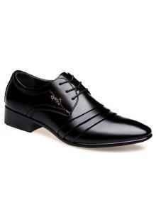وأشار اصبع القدم الدانتيل يصل الأحذية الرسمية - أسود 40