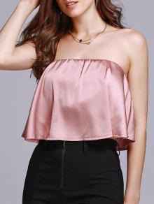 Solid Color Tube Top - Pink L