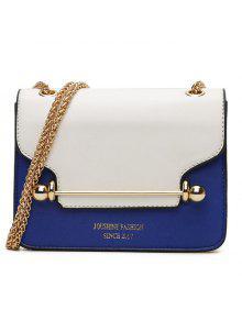 سلسلة اللون حجب حقيبة كروسبودي - أزرق