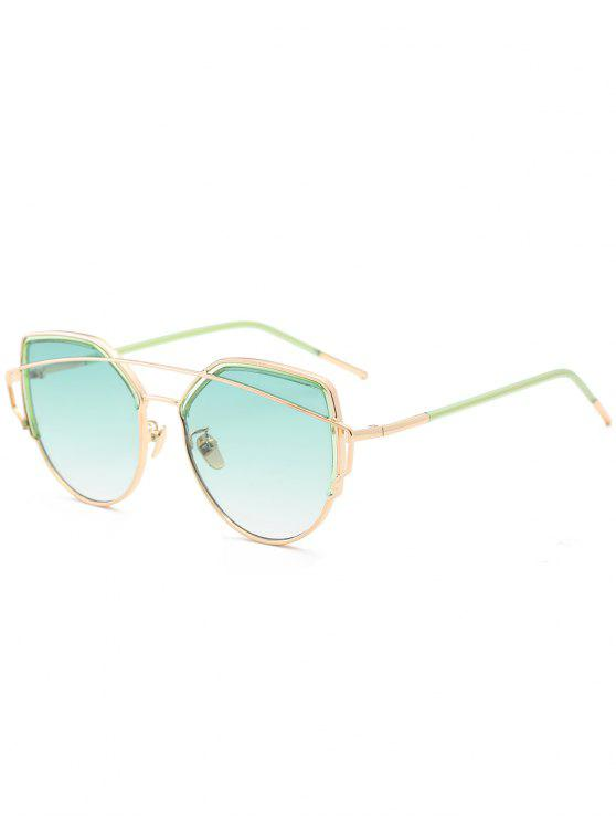 outfits Cat Eye Metal Crossbar Sunglasses - GREEN