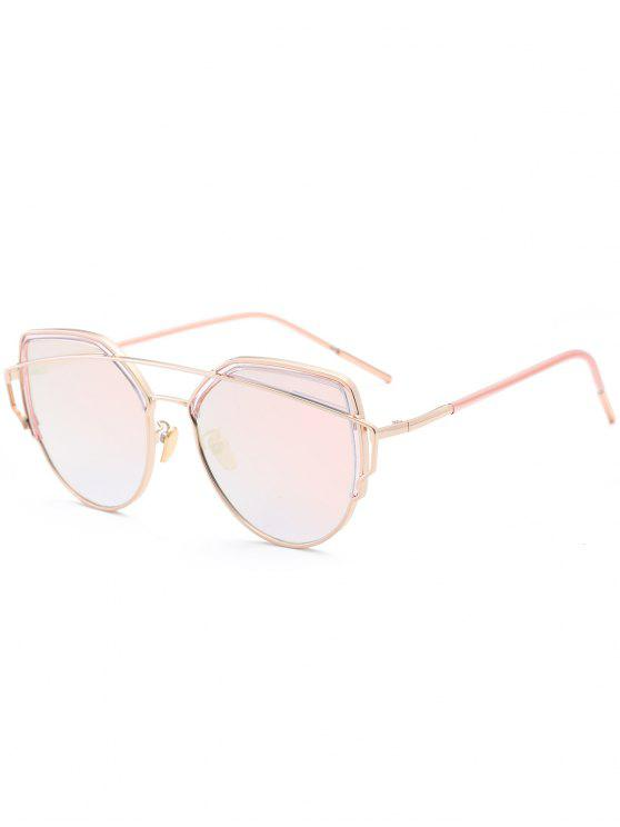 latest Cat Eye Metal Crossbar Sunglasses - PINK