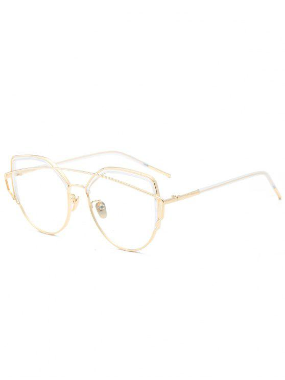Cat Eye Metal Crossbar Lunettes de soleil - Transparent