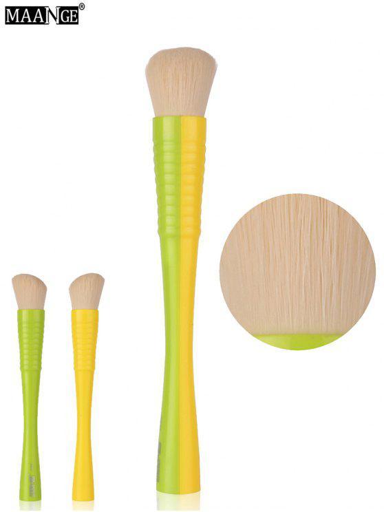 مانج لون كتلة مقبض روج فرشاة - الأخضر والأصفر