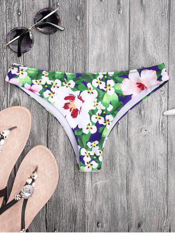 best Floral High Cut Thong Swim Bottoms - FLORAL M