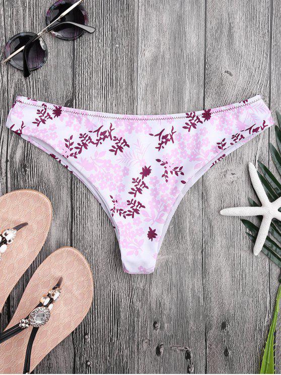 Tiny Floral High Cut Thong Pantalones de natación - Floral L
