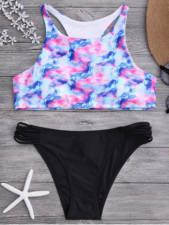 Ombre Tie Dye Bikini Set - Multicolore L