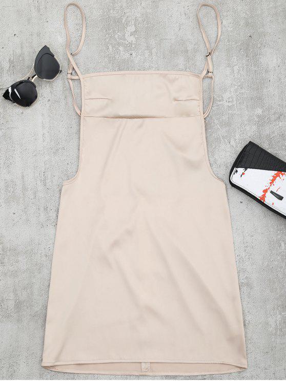 Mini Vestido de Tirantes Finos sin Espalda - Albaricoque S
