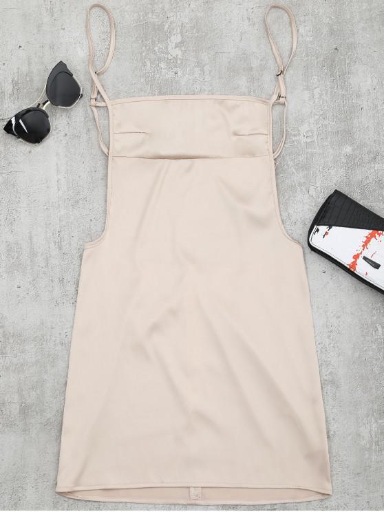 Mini Vestido com Costa Aberta e Fenda - Damasco S