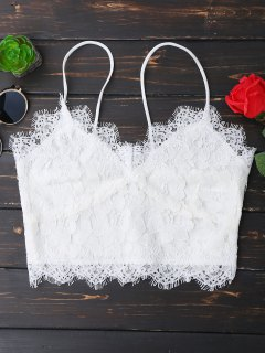 Cami Scalloped Lace Tank Top - White S