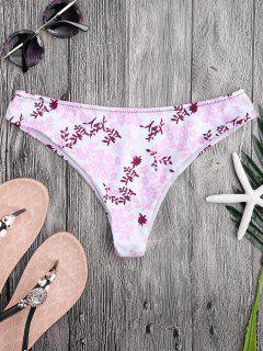 Bas De Bikini Découpé Haut Imprimé Petite Fleur - Floral M