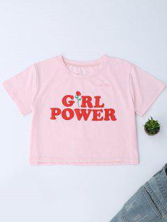 Oversized Girl Power Crop T-shirt - Papaya