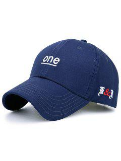 Plain Letters Embellished Baseball Hat - Cadetblue