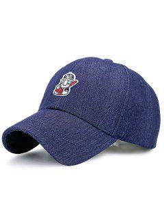 Cartoon Figure Pattern Outdoor Baseball Hat - Cadetblue