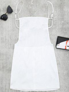 Backless Mini Slip Dress - White M