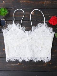 Cami Scalloped Lace Tank Top - White L
