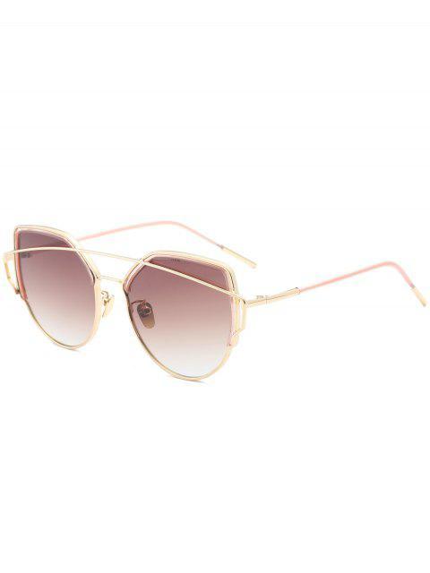 Metall Querlatte Katze Auge Sonnenbrille - Dunkelbraun  Mobile