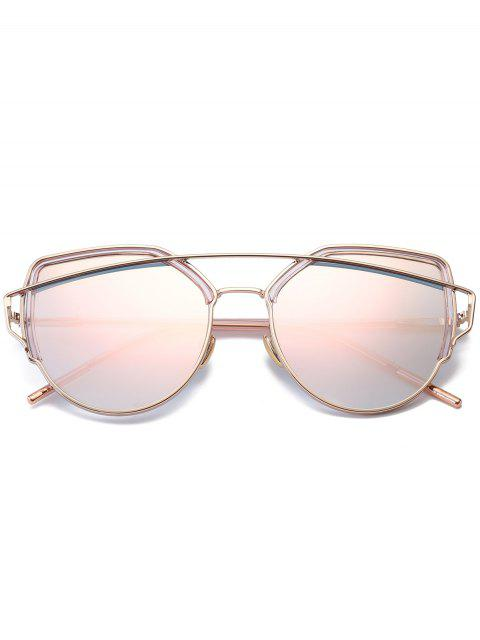 latest Cat Eye Metal Crossbar Sunglasses - PINK  Mobile