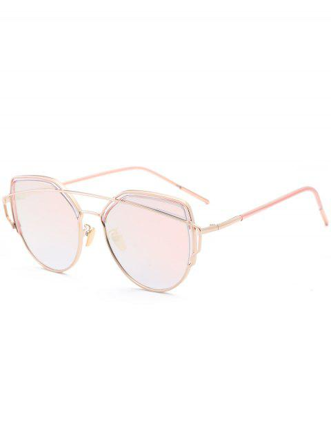 latest Cat Eye Metal Crossbar Sunglasses - PINK  Mobile