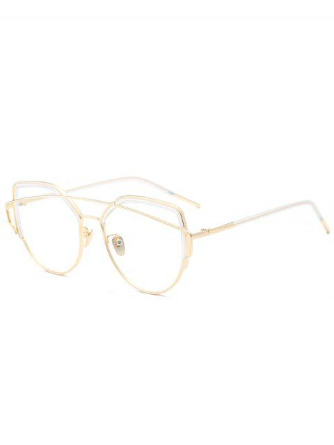 Cat Eye Metal Crossbar Lunettes de soleil - Transparent  Mobile