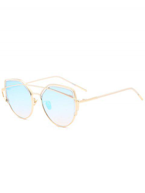 Metall Querlatte Katze Auge Sonnenbrille - Hellblau  Mobile