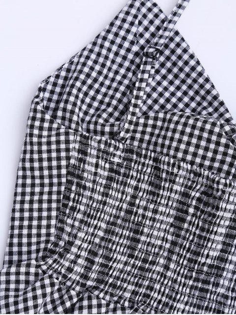 Haut et Shorts à carreau avec nœud papillon et péplum - Noir S Mobile