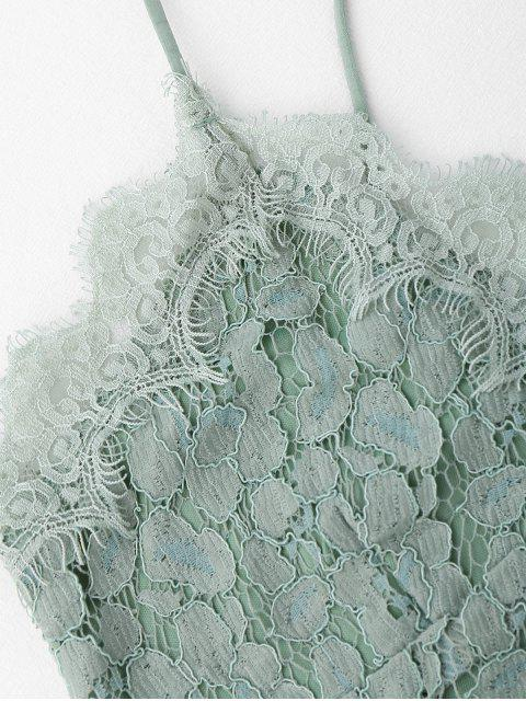 womens Cami Scalloped Lace Tank Top - LIGHT GREEN S Mobile