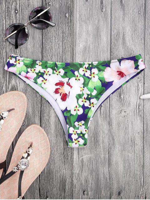 Bas de bikini slip floral avec haute découpe - Floral XL Mobile