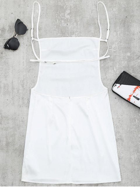 women's Backless Mini Slip Dress - WHITE S Mobile
