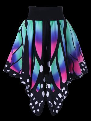High Waist Butterfly Shape Skirt - 2xl