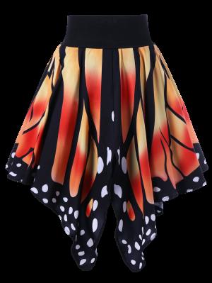 High Waist Butterfly Shape Skirt - Jacinth 2xl