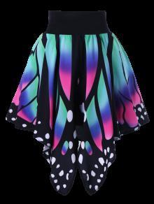 تنورة عالية الخصر شكل الفراشة - 2xl