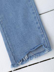 Zerrissene jeans mit pailetten und blumenstrickerei denim - Zerrissene jeans herren ...