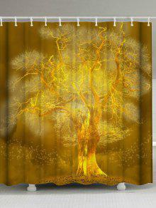 الذهبي شجرة اضافية طويلة حمام دش الستار - ذهبي W59inch*l71inch