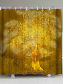 الذهبي شجرة اضافية طويلة حمام دش الستار - ذهبي W71inch*l79inch