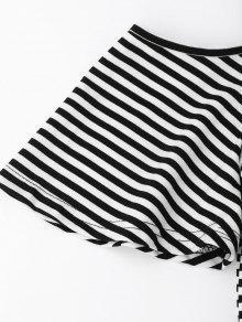 237;o Fr Rayado M Camiseta Slit Negro Hombro Trasero 56Axwnq5B