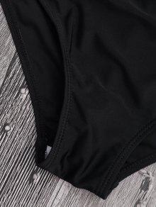 schulterfrei ananas r schen hohe taille bikini schwarz. Black Bedroom Furniture Sets. Home Design Ideas