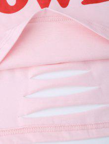 3f1328181 19% OFF] 2019 Oversized Girl Power Crop T-shirt In PAPAYA   ZAFUL