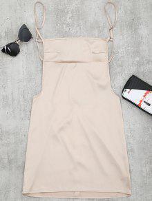 Mini Robe Lisse Dos Nu - Abricot M