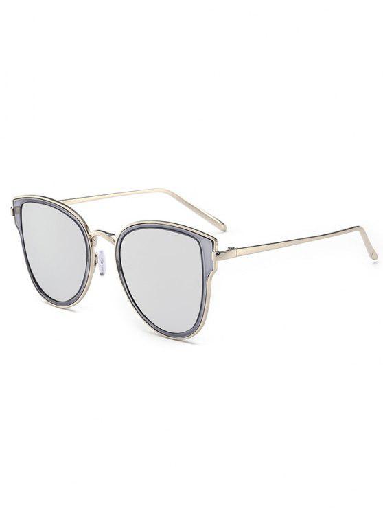 Occhiali da sole specchiate in metallo - Nero + Mercurio