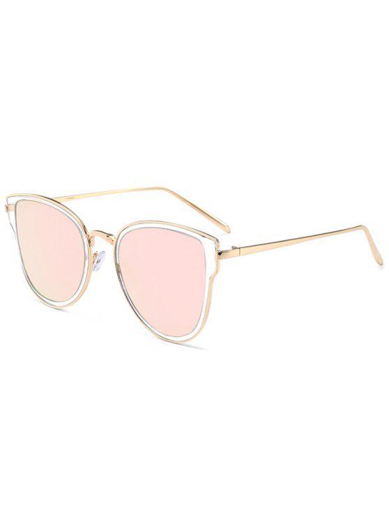 Gafas de sol con espejo de metal marco de plata lente for Espejo marco gris