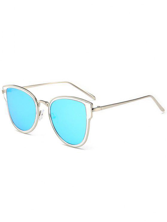 Gafas de sol con espejo de metal - Marco de Plata + Lente Auzl C9
