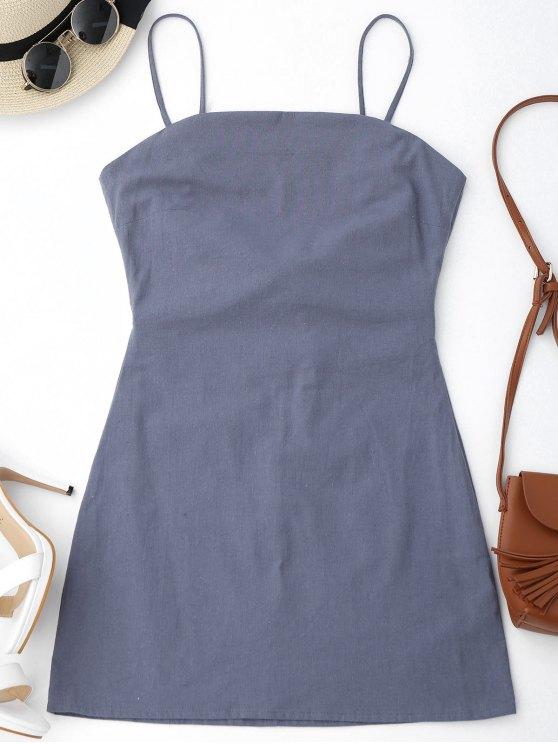 فستان عالية القطع بونوت مصغر مثير - رمادي XL