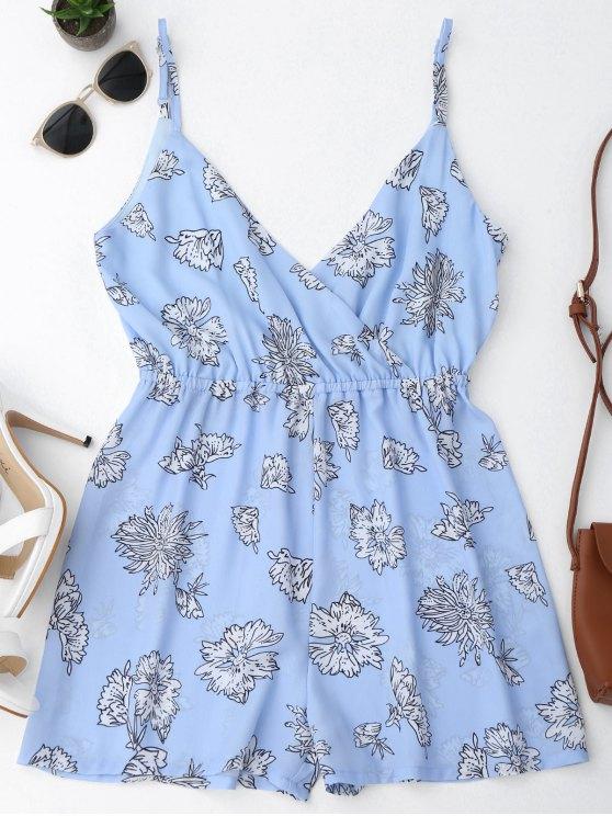 buy Cami Floral Surplice Romper - FLORAL S