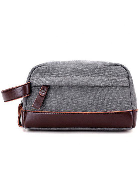 حقيبة يد بجلد اصطناعي - رمادي